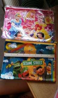 disney / sesame street half clear pencil case