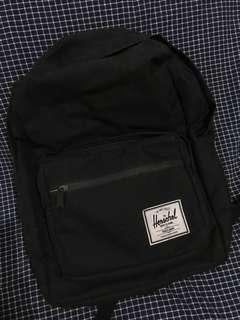 Herschel Classic Backpack in Black with Striped Interior