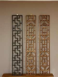 Oriental Style Wall Panels - Black only