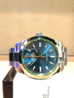 Brand New Rolex Oyster Milgauss 116400GV Blue Dial Automatic Steel Casing Bracelet