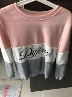 Pink stripe sweater