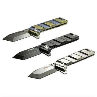Manker Saber Folding Knife With Titanium Handle  Stainless M390 Steel Blade