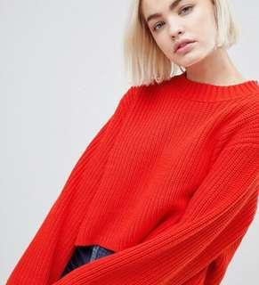 Weekday red crop jumper