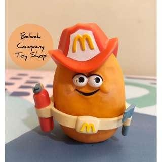 絕版 1988年 McDonald's Mcnuggets 古董玩具 麥當勞玩具 麥克雞塊 雞塊寶寶 消防員 麥當勞