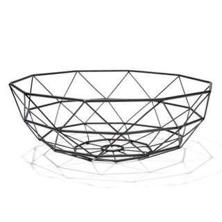 KMART Black Geometric Bowl
