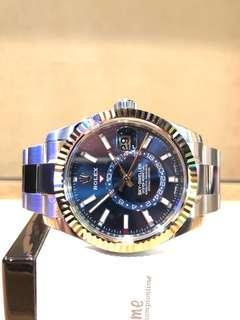 Brand New Rolex Oyster Sky-Dweller 326934 Blue Dial Automatic Steel Casing Bracelet