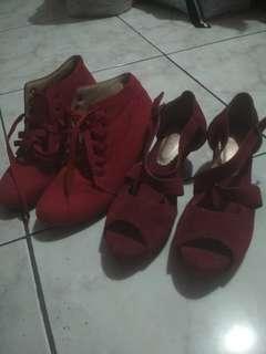 Sepatu wanita wedges heels