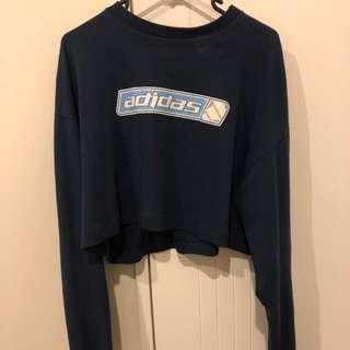 Adidas long sleeve navy top