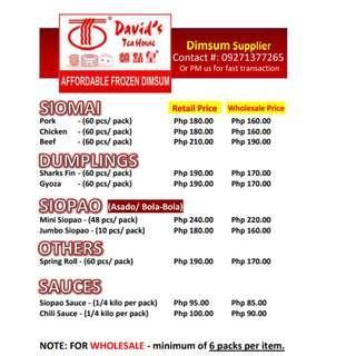 Dimsum Siomai Food Drinks Carousell Philippines