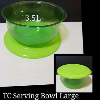 Authentic Tupperware TC Serving Bowl Large 3.5L (1) Selling at $20