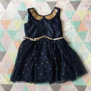 TARGET Navy Blue Satin Dress