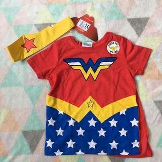 Wonder Woman Tshirt with Cape