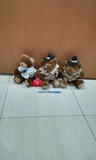 3 x The Teddy Bear Collection