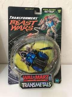 全新 美版 變形金剛 Transformers Beast Wars Transmetals Rattrap- Wal-Mart Repaint