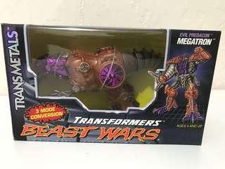 全新 1997 美版 異色版 Beast Wars Transmetal -粉紅色 電鍍 麥加登 Pink Megatron
