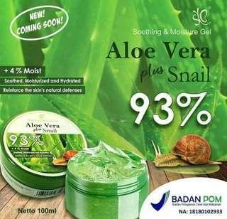 93% Soothing&Moisture Gel Aloe Vera Plus Snail by SYB BK