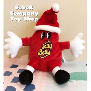 🇺🇸7吋 Jelly Belly Jelly bean 雷根糖 糖豆 玩偶 吊飾 鑰匙圈 二手玩具 絕版玩具 聖誕節