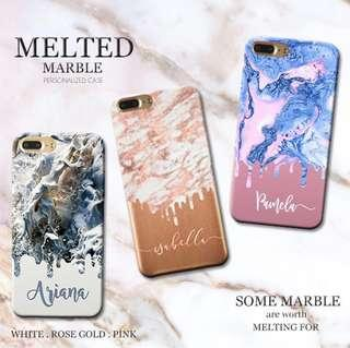 Melted marble case custom