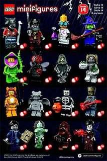 Lego Series 14 Minifigures Full Set of 16