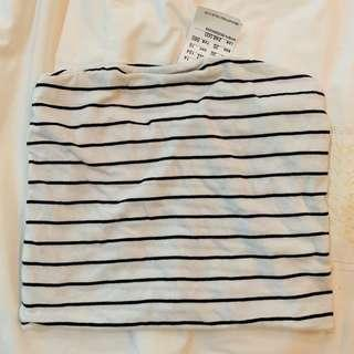 Bnwt brandy Melville black and white striped Jenny tube top authentic bm