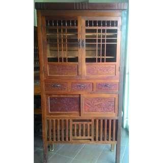 檜木雕刻櫃 老菜櫥