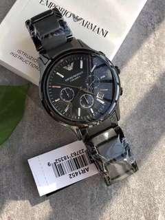 🚚 EMPORIO ARMANI Ceramica watch mens chronograph black