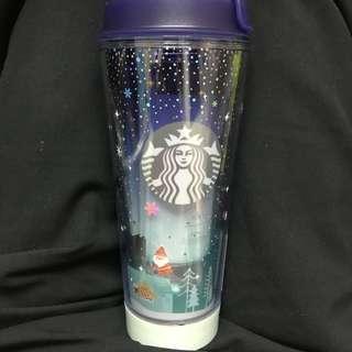 Starbucks 杯 發光355ml 有小花痕 全新無用過