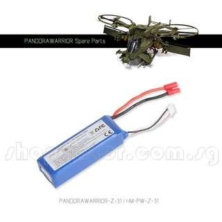 WALKERA Pandora Warrior 14.8V 1800mAh LiPo Battery with red HXT connector, 25C, NETT PRICE, Usual Price $78.30. Code: HM-PW-Z-31