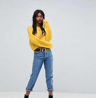 ASOS yellow crop jumper