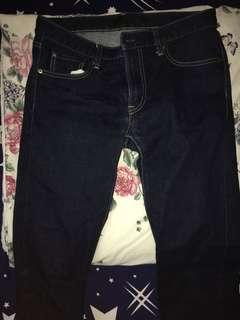 Uniqlo slim fit navy jeans