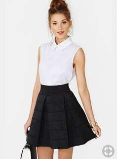 Brandy Melville White Collar Sleeveless Shirt