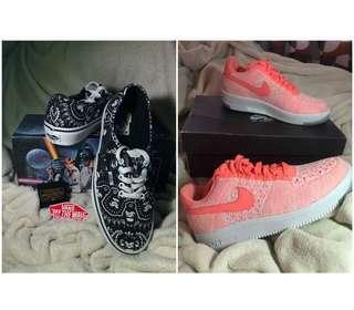 Nike Air Force 1 + Vans Starwars Limited Ed (BUY 2 for 4,000 PESOS) Authentic and Brand new