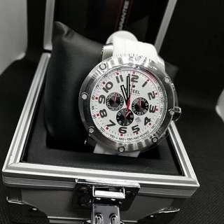 TW Steel chronograph grandeur tech white and red
