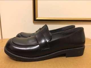 黑色皮鞋 學生鞋cosplay 大碼女鞋