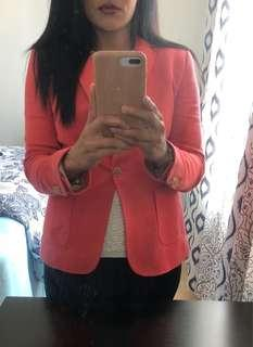 Massimo Dutti Jacket (cerise red/coral) -Size 8