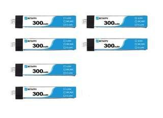 5 Pcs BETAFPV 300mAh 1S 30C HV Battery