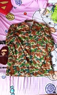 A Bathing Ape Bape 1st Puzzle Camo Coach Windbreaker Jacket.
