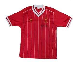 Original Liverpool FC 1984 Rome Final Signed By Ian Rush