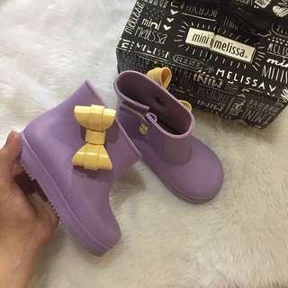 Mini Melissa lilac rain boots US9