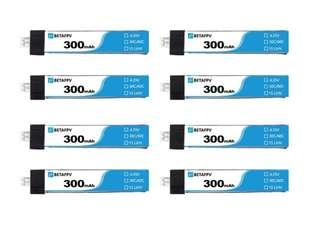 8 Pcs BETAFPV 300mAh 1S 30C HV Battery