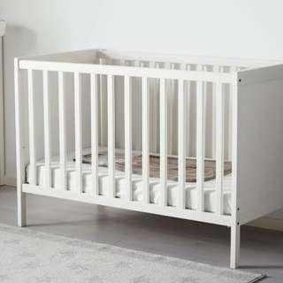 IKEA Sandvik cot in immaculate condition