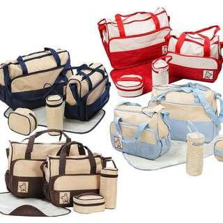 📡Ready Stocks 5in1 set Mumy Baby Bag