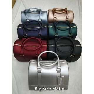 Doctors bag matte jelly shoulder/handbag
