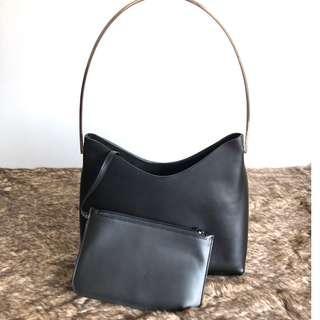Gucci 黑色漆皮子母包