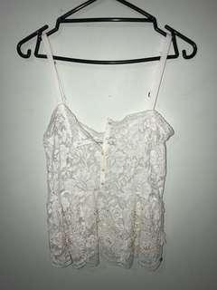 Lacey embroider singlet