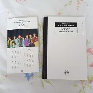 BTS Seasons Greetings 2017 Official // planner diary standing foldable calendar
