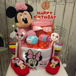 1 year old Birthday Large Baby diapers cake