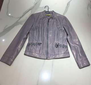 Mauve Leather Jacket size S