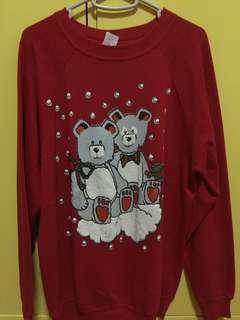Red teddy sweater