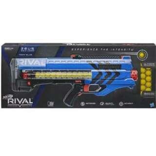 Nerf Rival Zeus Motorized 6 C size battery MXV-1200 blaster (Blue) Hasbro TRU